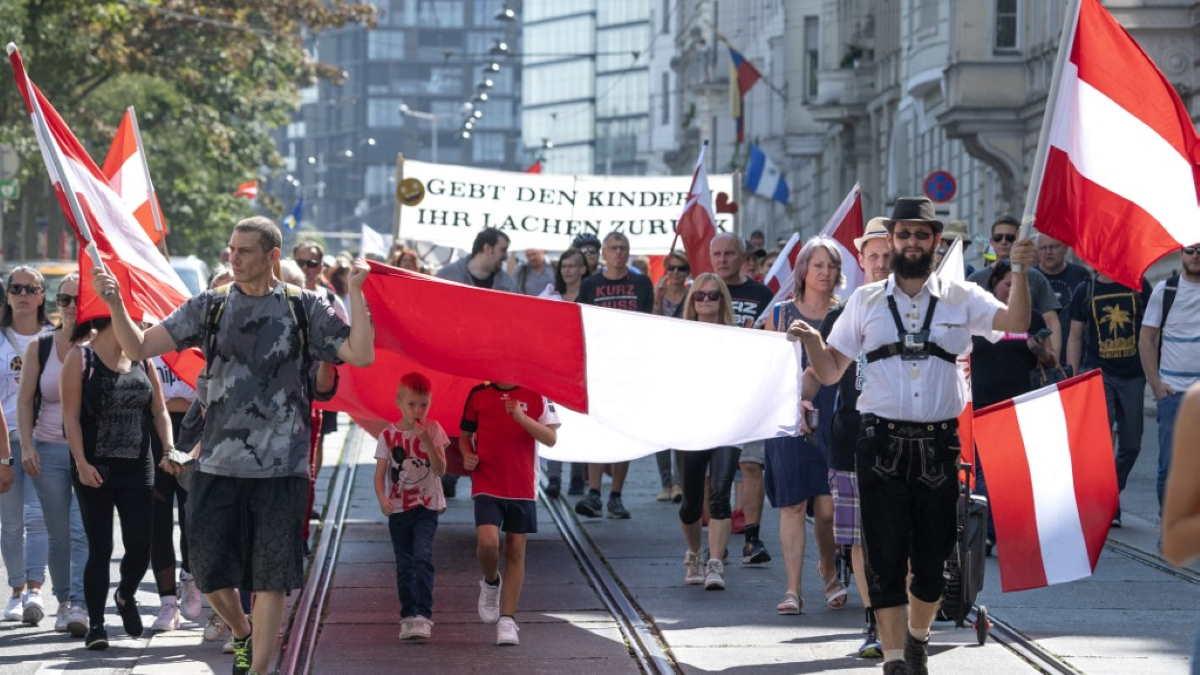 Протесты в Вене