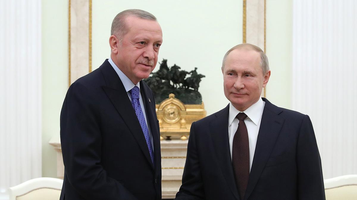 Переговоры Владимира Путина и Тайипа Эрдогана