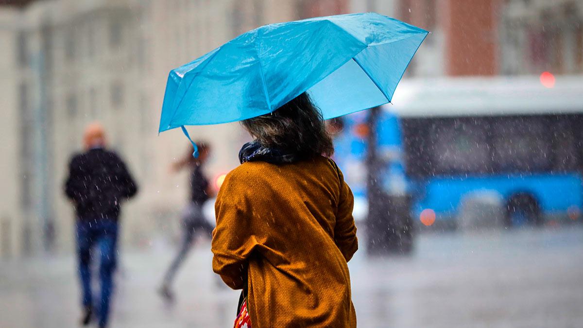Сильный осенний дождь