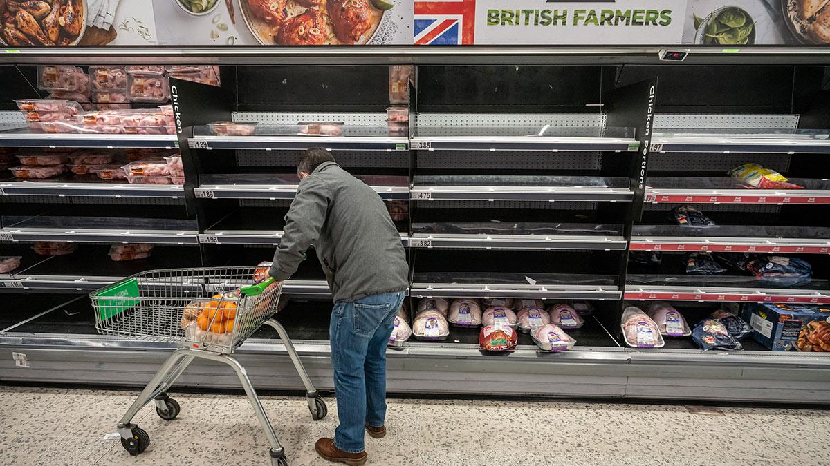 Нехватка мяса в магазинах Великобритании