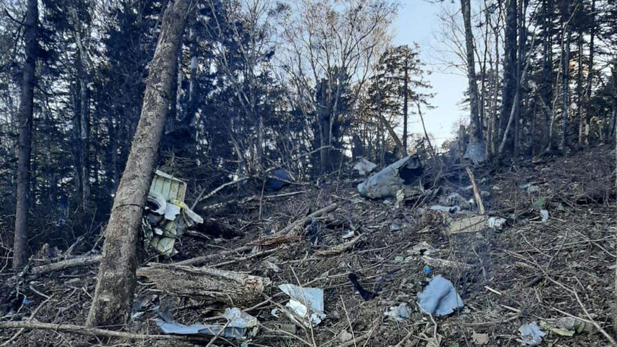 Место крушения Ан-26 в Хабаровском крае