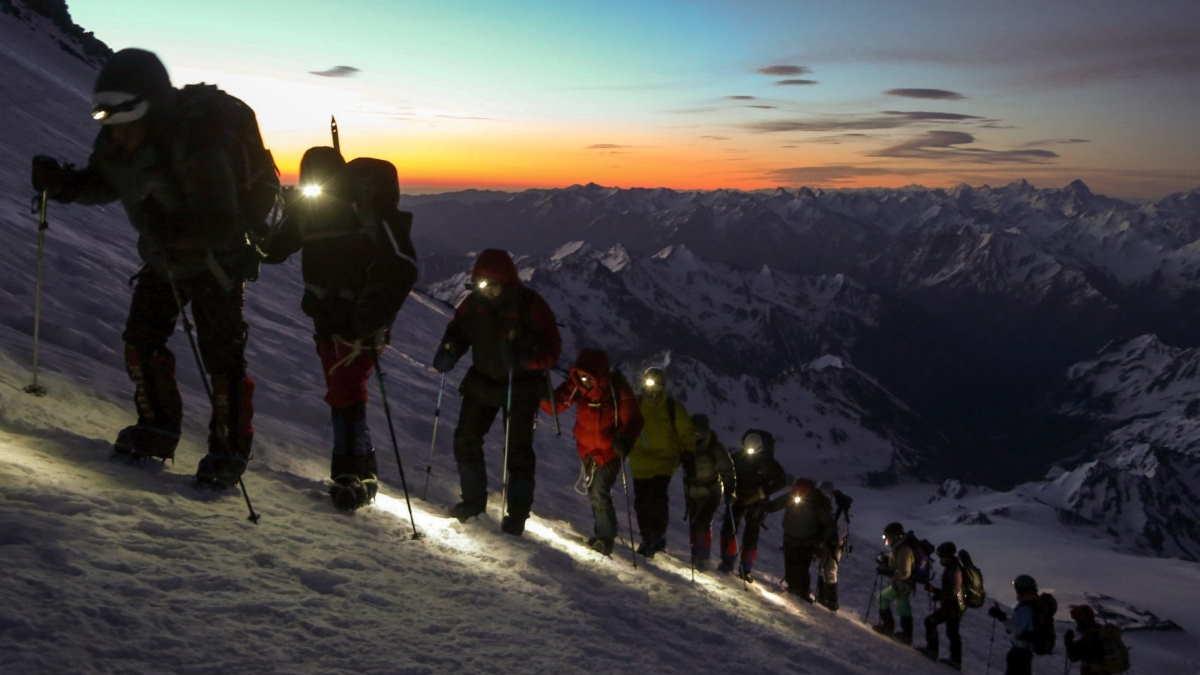подъём в горы