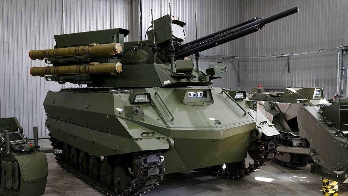 """Робот разведки и огневой поддержки """"Уран-9"""""""