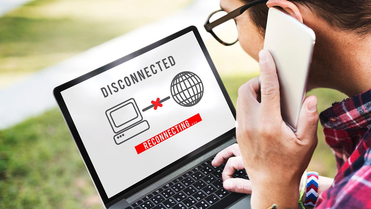 Отсутствие доступа к интернету