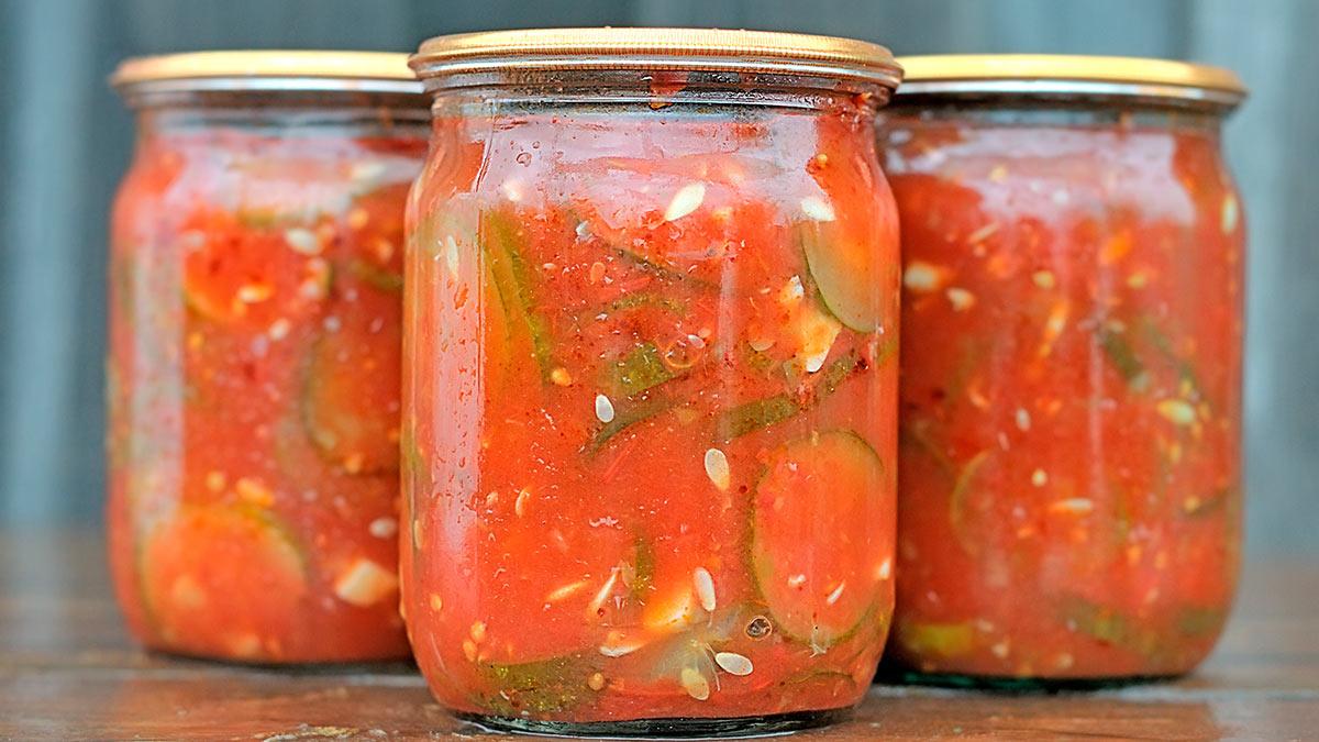Огурчики, консервированные в томате