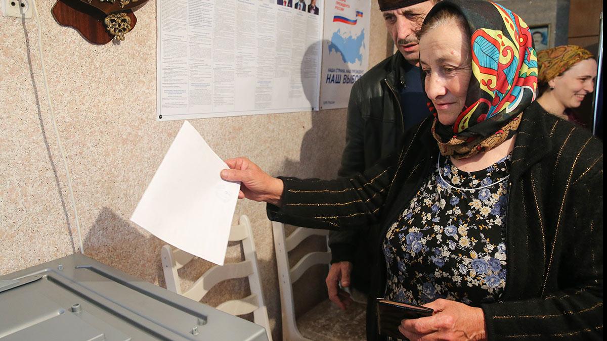 Голосование в Чечне