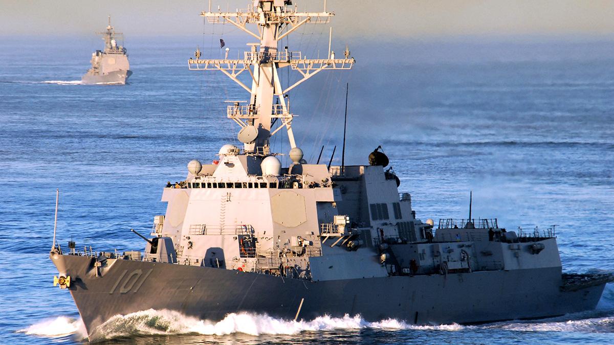 Корабли ВМФ США для борьбы с российскими подлодками