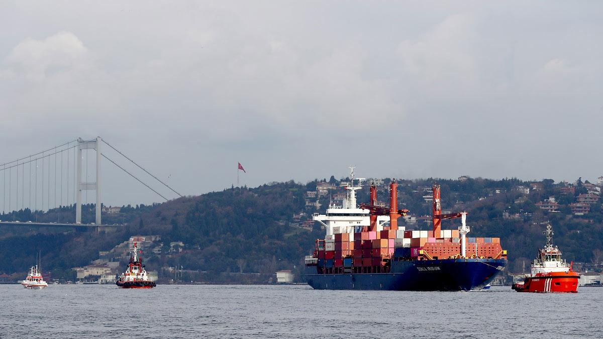 Движение судов через пролив Босфор