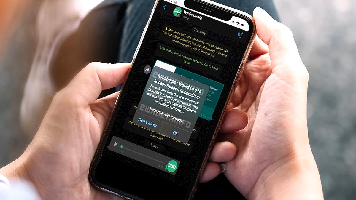 WhatsApp iPhone расшифровка голосовых сообщений