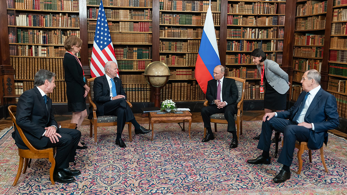 Владимира Путин и Джо Байден