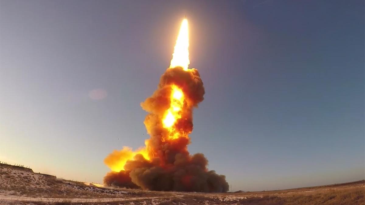 пуск противоракеты системы ПРО