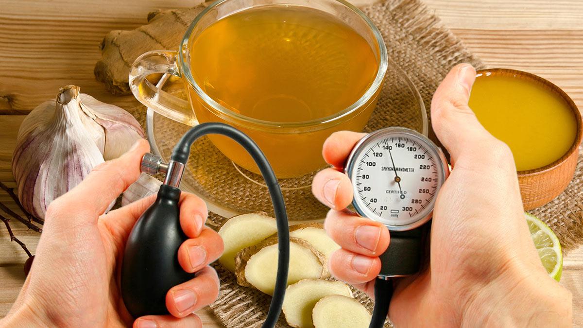 давление чай с чесноком и медом
