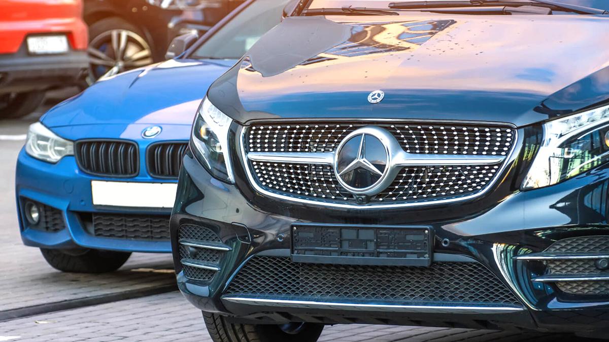 автомобили Mercedes-Benz и BMW