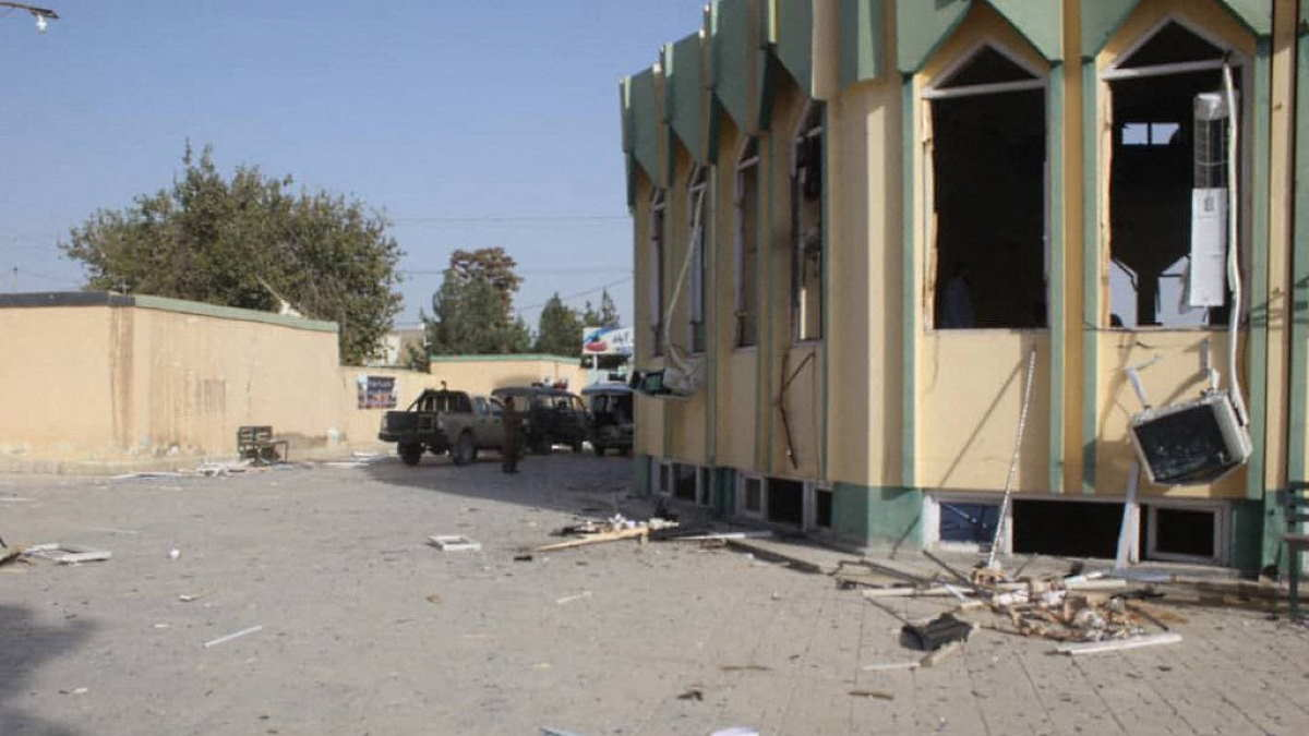 Последствие взрыва в мечети Афганистана