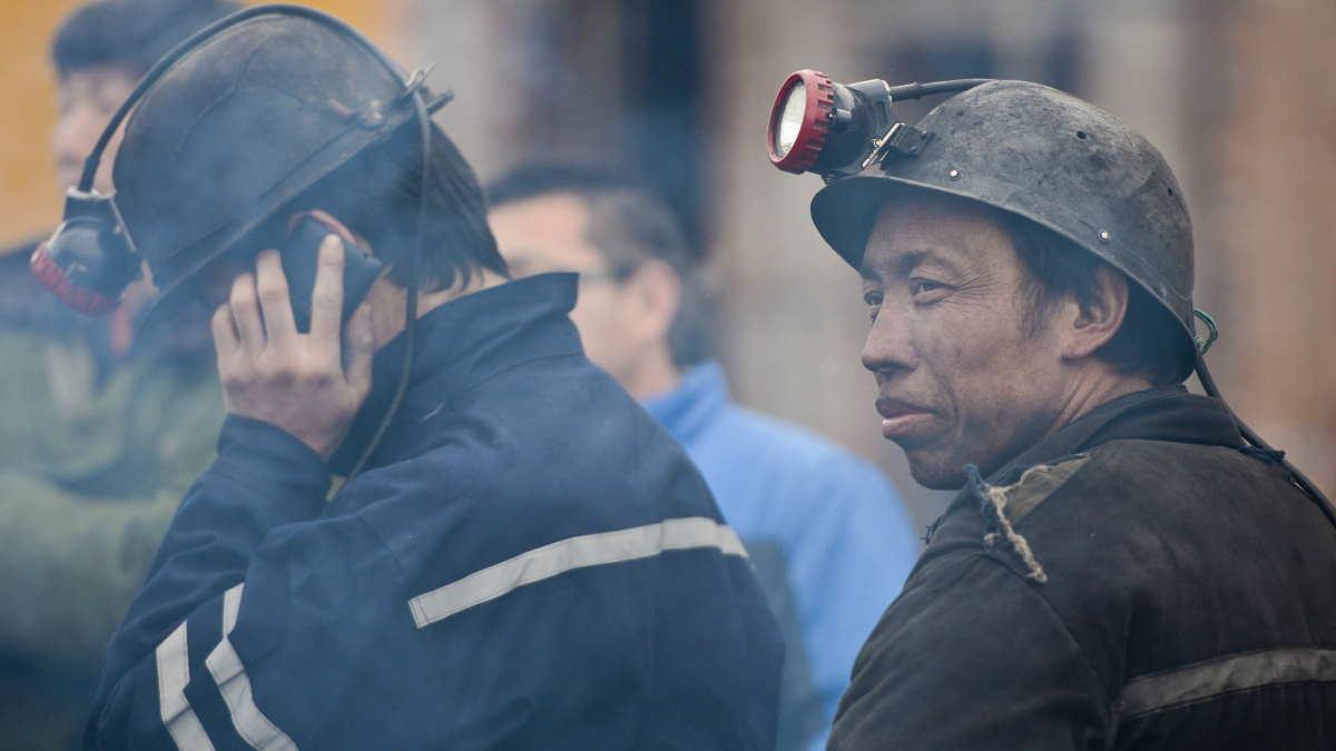 китайские шахтёры