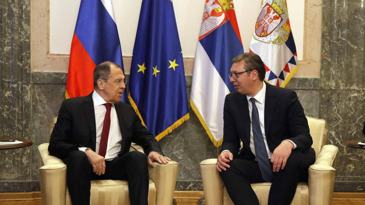 Сергей Лавров и Александр Вучич