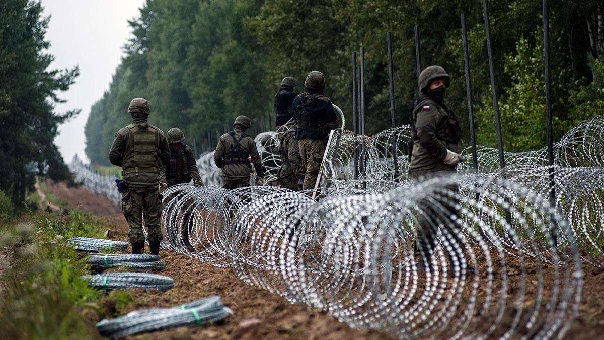 Строительство ограждения на польской границе