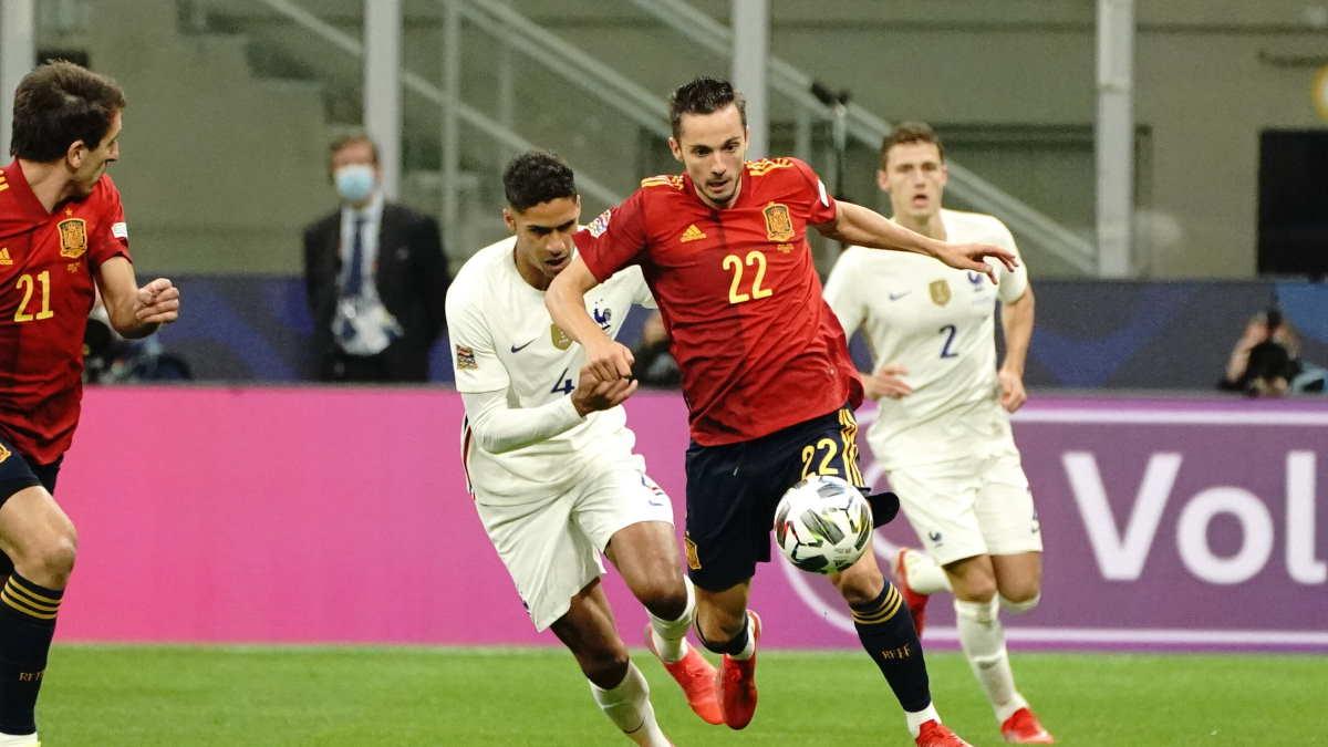 финальный матч Лиги наций между Францией и Испанией