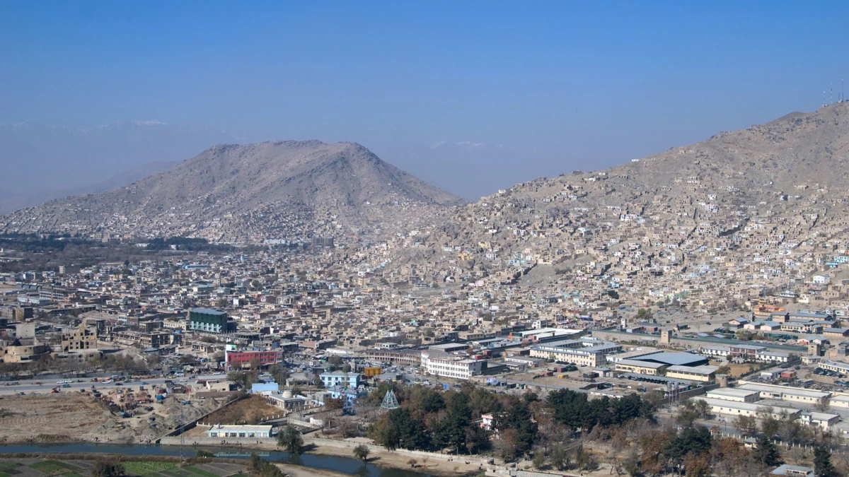 Город Кабул в Афганистане