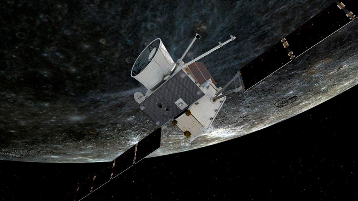 Аппарат BepiColombo передал первые снимки поверхности Меркурия