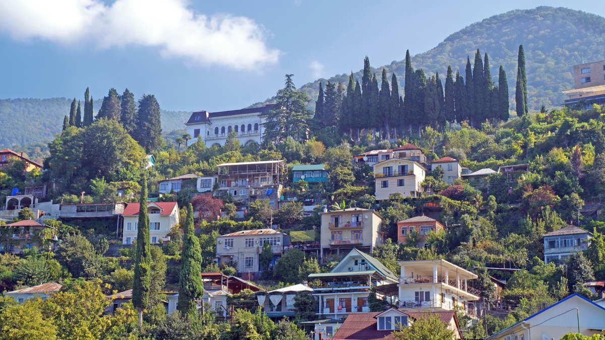 Город Гагра в Абхазии