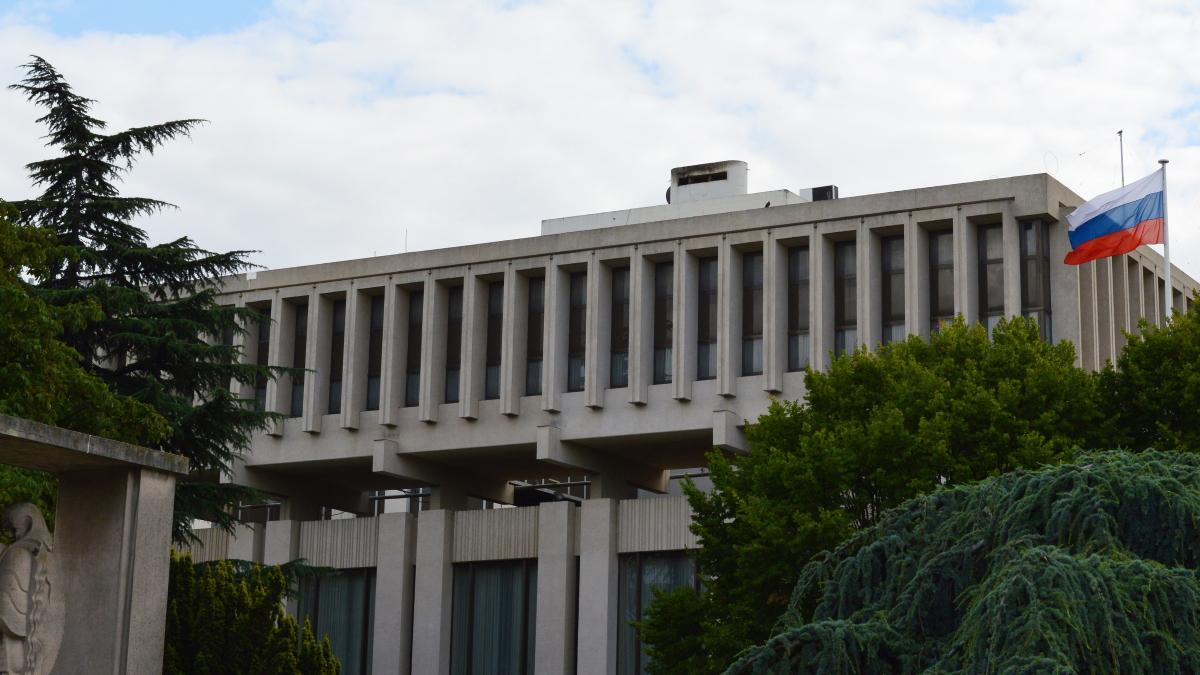 Здание посольства РФ во Франции