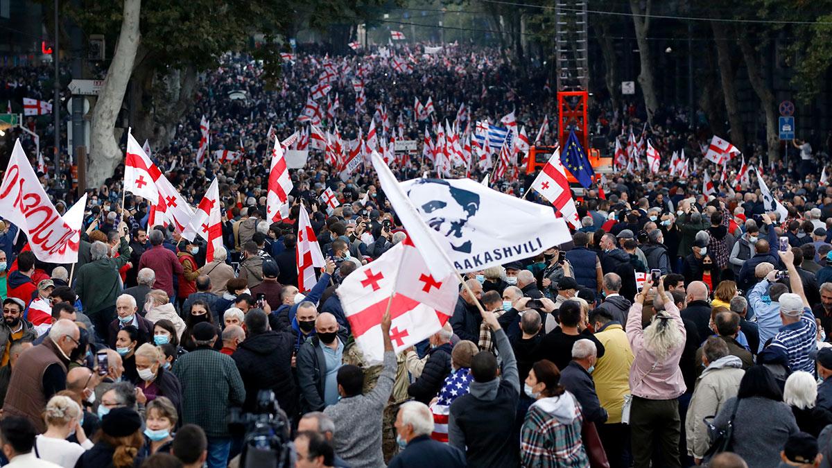 Митинг в поддержку Саакашвили в Тбилиси