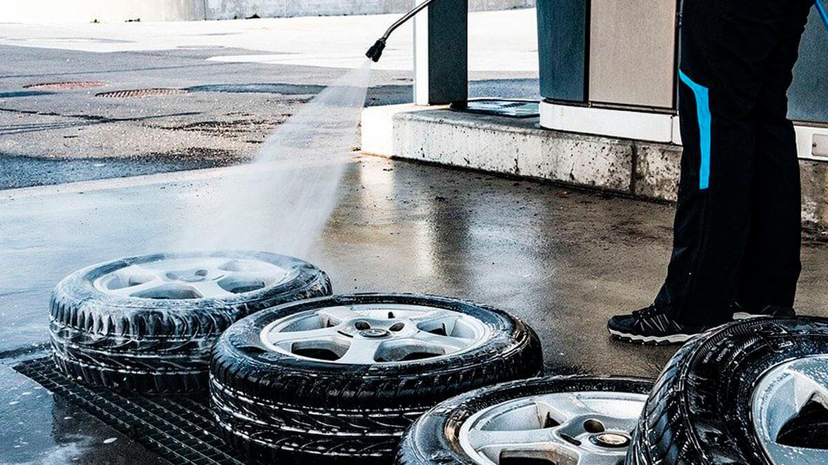 мыть шины перед сезонным хранением