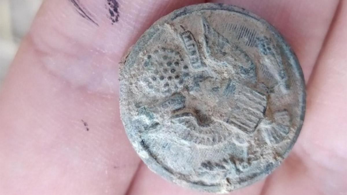 Значок с символом США из замка Зерзеван в Турции